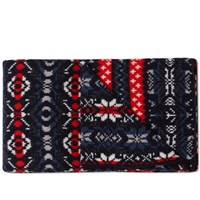 Beams Plus Crazy Pattern Scarf Blue