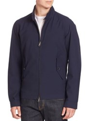 Baracuta Bold Hued Zipper Jacket Charcoal