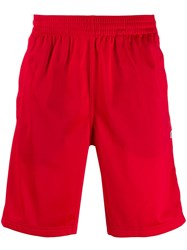 Champion Reverse Weave Buttoned Shorts Red