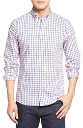 Nordstrom Men's Men's Shop Trim Fit Non Iron Check Sport Shirt