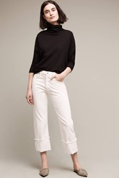 Anthropologie Citizens Of Humanity Parker Ultra High Rise Cuff Jeans White