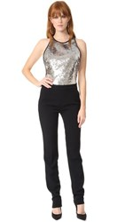 Thierry Mugler Sleeveless Jumpsuit Silver