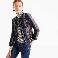 J.Crew Quilted Lady Jacket In Stewart Plaid