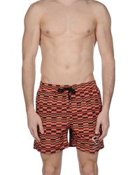 Roundel London Swim Trunks Red