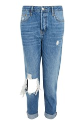 Topshop Moto Busted Knee Blue Hayden Jeans Blue