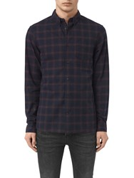 Allsaints Colfax Long Sleeve Shirt Ink Check