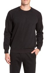 Nordstrom Shop French Terry Moto Pullover Black Heather