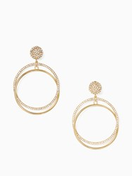 Kate Spade Ring It Up Drop Hoops Clear Gold