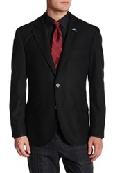 Tailorbyrd Solid Notch Collar Sportcoat Black