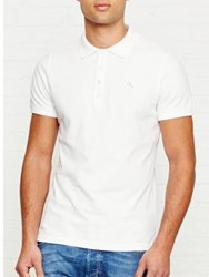 Diesel Heal Short Sleeve Polo Top White