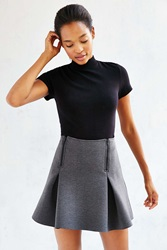 Silence And Noise Silence Noise Space Dye Zip Front Skirt Dark Grey