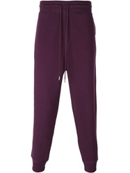Ami Alexandre Mattiussi Gathered Ankle Track Pants Pink And Purple