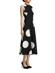 Lk Bennett Polka Dot Skirted Dress