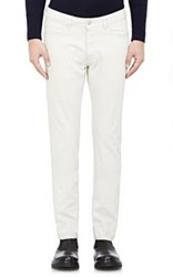 Officine Generale Men's Selvedge Skinny Jeans Light Grey