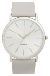 Junior Women's Bp. Round Face Watch 35Mm Grey