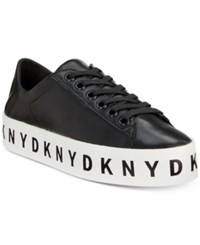 Dkny Banson Lace Up Platform Sneaker Sneakers Created For Macy's Black