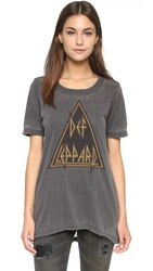 Chaser Def Leppard Triangle Tee Black