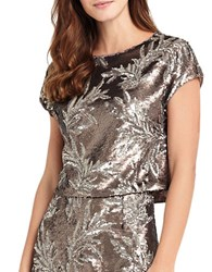 Phase Eight Patientia Sequined Top Bronze