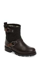 Woolrich Women's 'Baltimore' Engineer Boot Vintage Black Leather