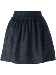 Jil Sander Navy Tweed Mini Skirt Grey