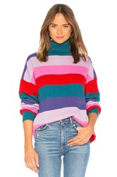 Lovers Friends Marianne Stripe Sweater Pink