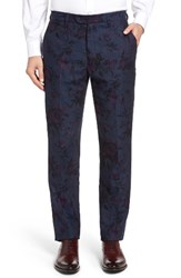 Ted Baker Men's London Flotro Floral Herringbone Trousers