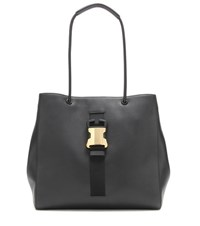 Christopher Kane Embellished Leather Shopper Black