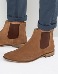 Kg By Kurt Geiger Chelsea Boots In Tan Suede Tan