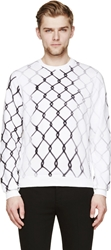 Carven Black And White Faded Fence Sweatshirt