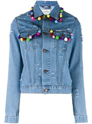 Forte Couture Pon Pon Jacket Blue