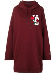Undercover Embroidered Logo Hoodie Dress