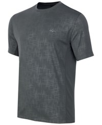 Greg Norman For Tasso Elba Men's Embossed Performance T Shirt Grey