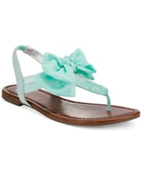 Material Girl Swan Flat Thong Sandals Only At Macy's Women's Shoes Blue