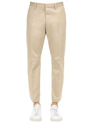 Dsquared 16.5Cm Hockney Cotton Canvas Pants Beige