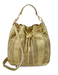 Brian Atwood Shoulder Leather Tote Moss