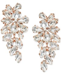 Jewel Badgley Mischka Crystal Arch Drop Earrings Rose Gold
