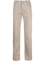 Kiton Five Pocket Trousers Brown