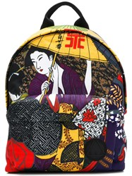 Mcq By Alexander Mcqueen Printed Backpack Black