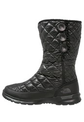 The North Face Thermoball Winter Boots Shiny Black Smoked Pearl Grey