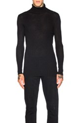 Ann Demeulemeester Knit Turtleneck Sweater In Black