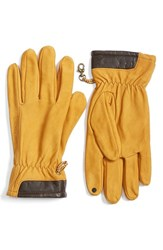 Timberland Men's Heritage Leather Gloves Wheat