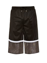 Astrid Andersen Striped Jersey Shorts Black