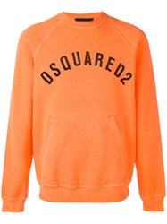 Dsquared2 Vintage Logo Pocket Sweatshirt Yellow Orange