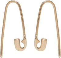 Lauren Klassen Gold Tiny Safety Pin Hook Earrings