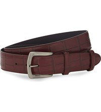Elliot Rhodes Coda Farkhan Leather Belt Burgundy
