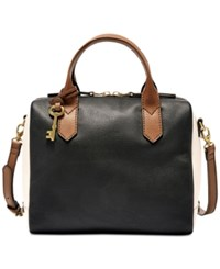 Fossil Fiona Small Satchel Black