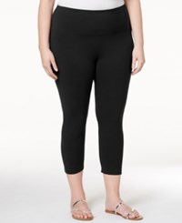 Styleandco. Style Co. Plus Size Capri Leggings Only At Macy's Deep Black