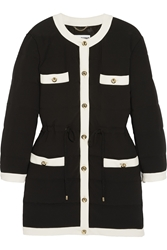 Moschino Quilted Crepe Coat