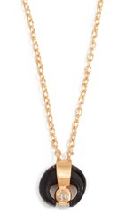 Chan Luu Petite Horn Necklace With Champagne Diamond Black Horn