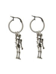 Saint Laurent Punk Skeleton Earrings